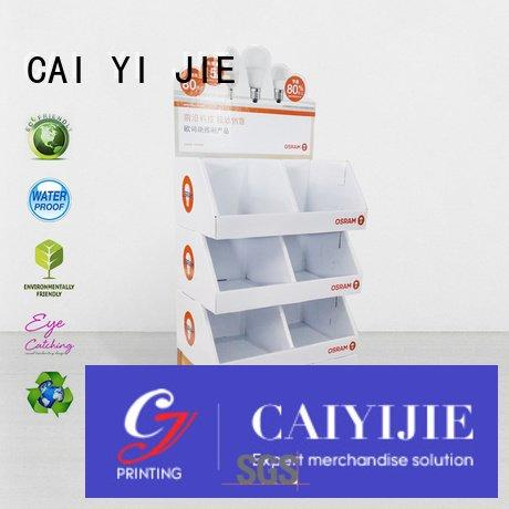 point printed CAI YI JIE cardboard stand
