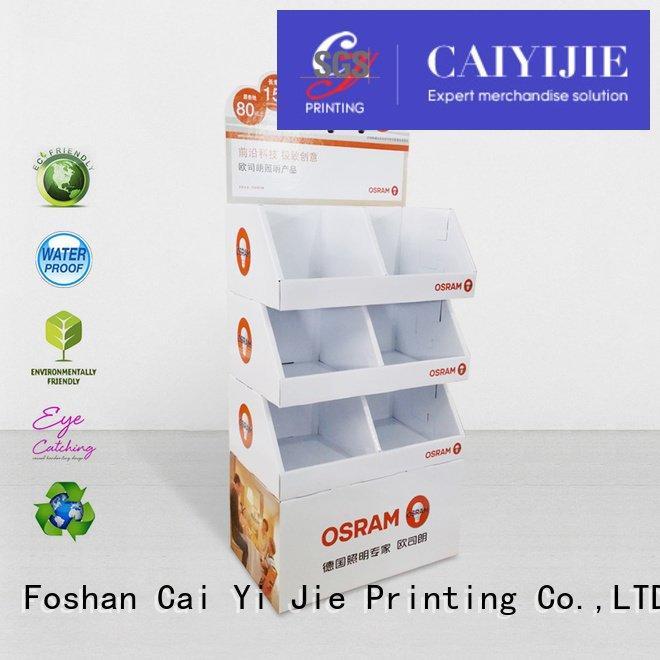 cardboard greeting card display stand displays tube cardboard CAI YI JIE
