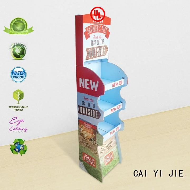 super cardboard retail display product for cabinet