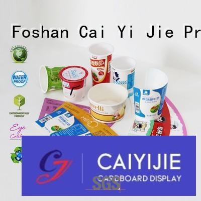 CAI YI JIE cardboard packaging ODM for milk display