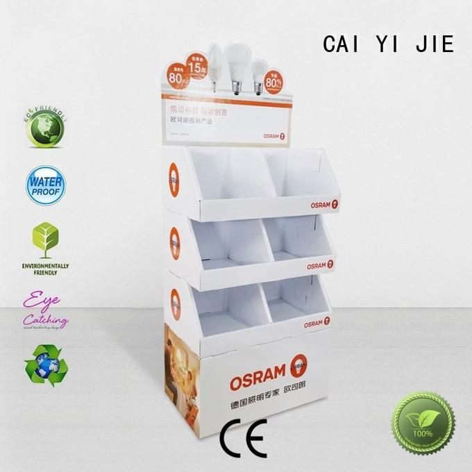CAI YI JIE heavy cardboard pop displays uv for store