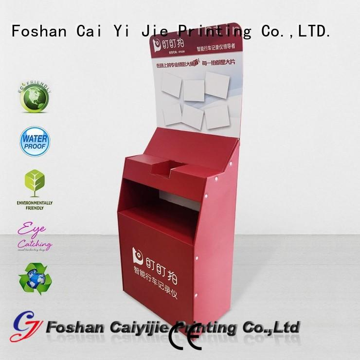 dumpbin cardboard greeting card display stand space CAI YI JIE
