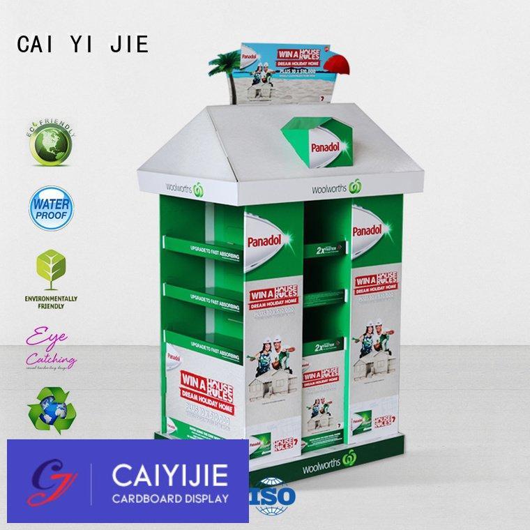 pos racks cardboard pallet display CAI YI JIE