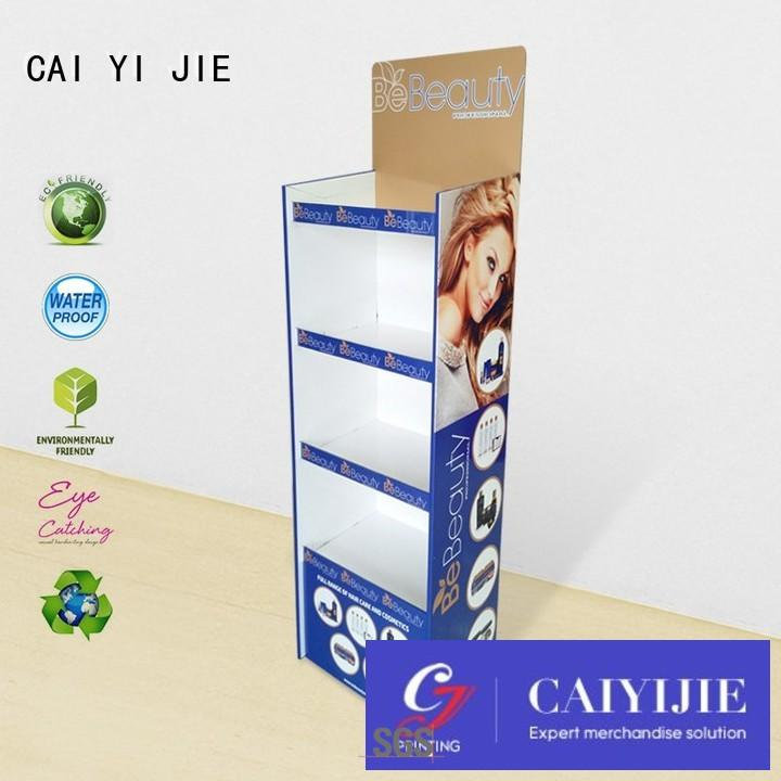 printing pop products CAI YI JIE Brand cardboard stand