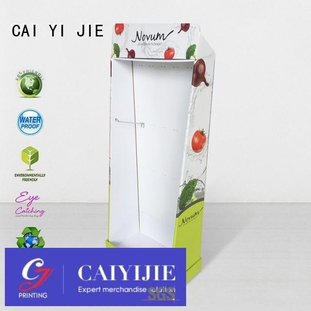 CAI YI JIE Brand tube product cardboard stand manufacture
