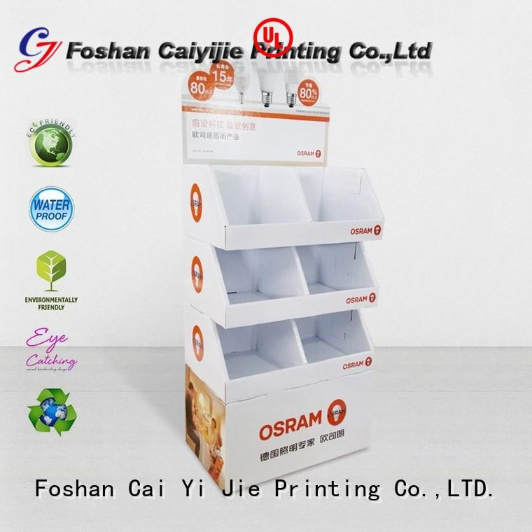 stand display cardboard stand fashion CAI YI JIE company