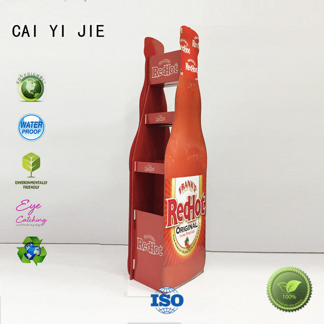 CAI YI JIE Brand promotional clip cardboard greeting card display stand printing supplier