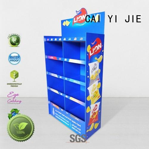cardboard greeting card display stand plastic stair retail Warranty CAI YI JIE