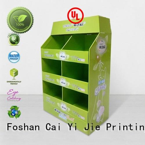 corrugated cardboard pallets cardboard display for stores CAI YI JIE