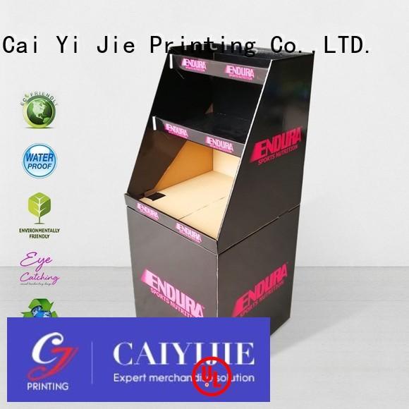 floor commodities cheese CAI YI JIE Brand cardboard dump bins for retail factory