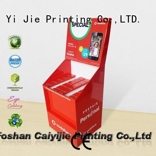 cheap product display stands factory for phone accessories CAI YI JIE