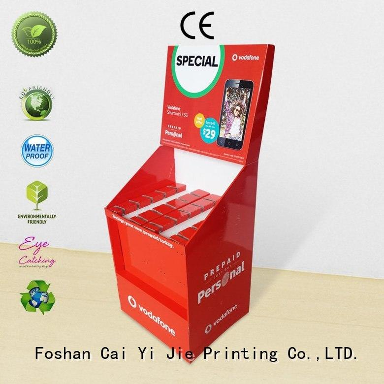 CAI YI JIE mobile cardboard products manufacturer for phone accessories