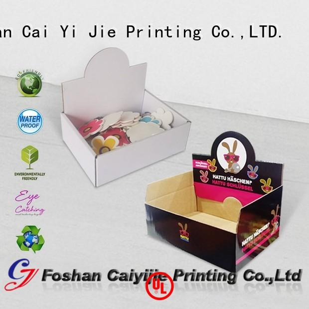 cardboard counter display boxes ODM for supermarkets CAI YI JIE