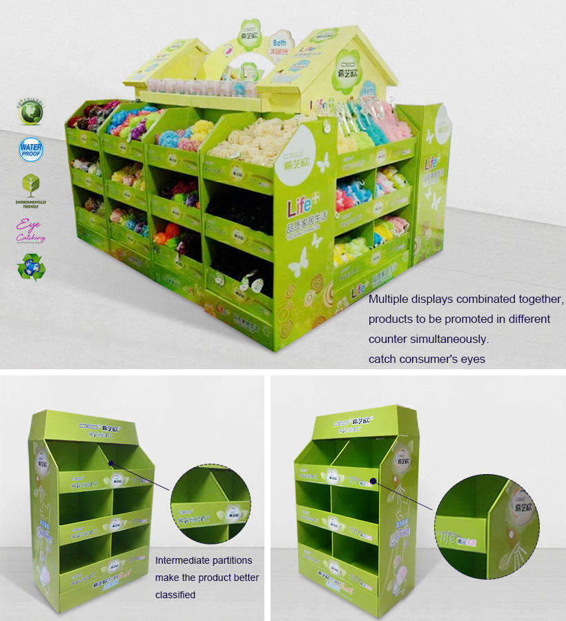 corrugated cardboard pallets cardboard display for stores CAI YI JIE-2