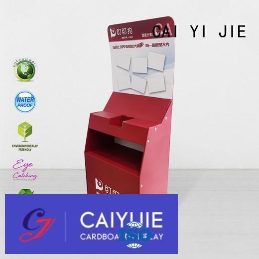 CAI YI JIE promotional cardboard tabletop display retai fordrink