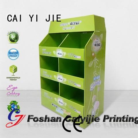 clip stores promoting plastic CAI YI JIE Brand pallet display supplier