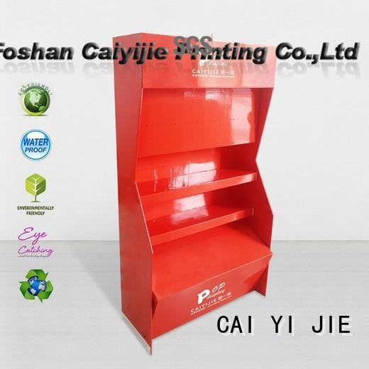 CAI YI JIE corrugated cardboard product display stands items for led light