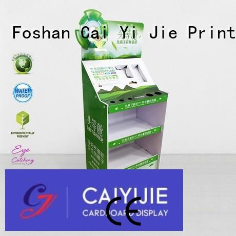 clip cardboard retail display special for electronic lights for grids CAI YI JIE
