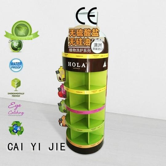 special cardboard display units chip for milk CAI YI JIE