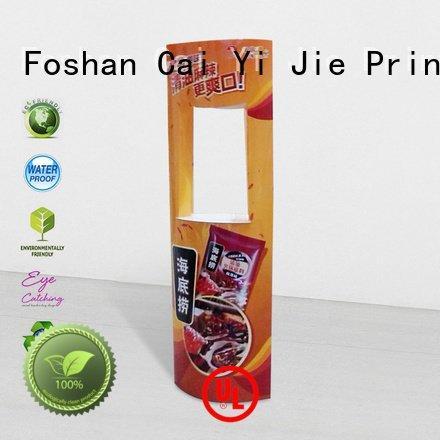 CAI YI JIE Brand advertising promotional stands lama display