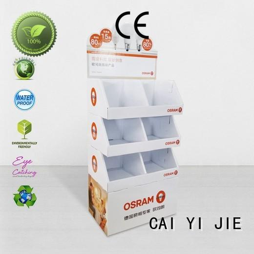CAI YI JIE promotional cardboard box stand display for kitchen supplies