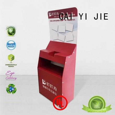 stainless tube cardboard product display stands workbench for promotion