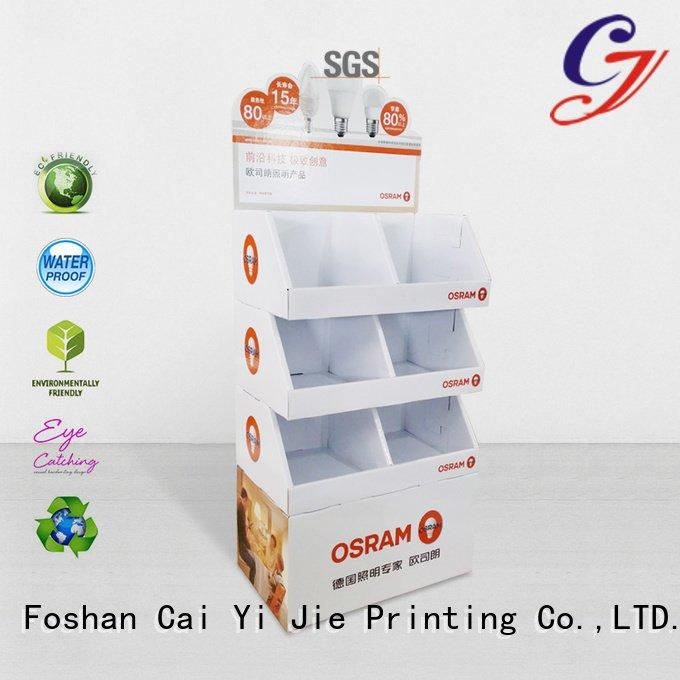 OEM cardboard greeting card display stand tube uv super cardboard stand