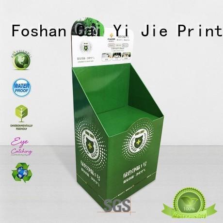 product retail cardboard greeting card display stand uv CAI YI JIE company