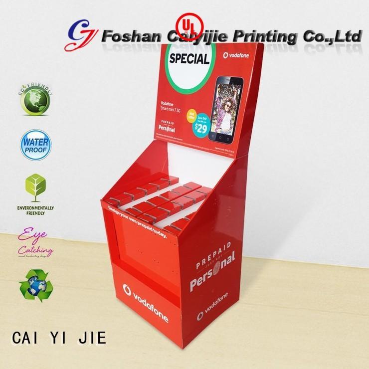 Quality CAI YI JIE Brand step marketing hook display stand