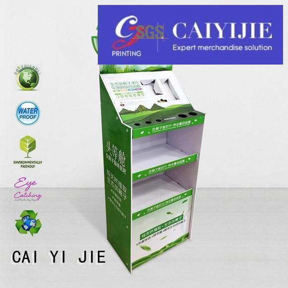 point step CAI YI JIE Brand cardboard greeting card display stand factory
