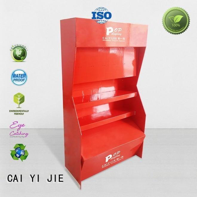 CAI YI JIE super point of purchase displays tiers forbottle