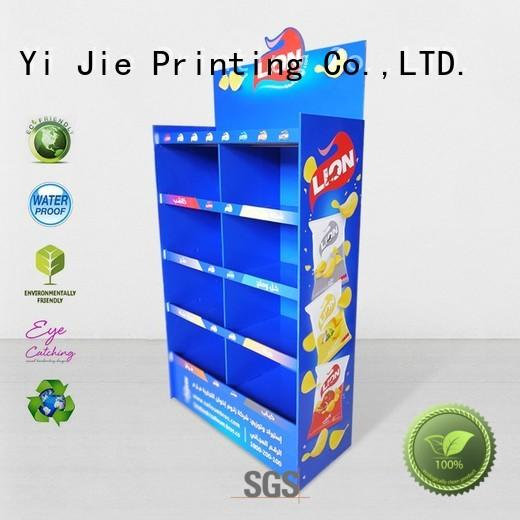 CAI YI JIE Brand plastic cardboard stand products factory