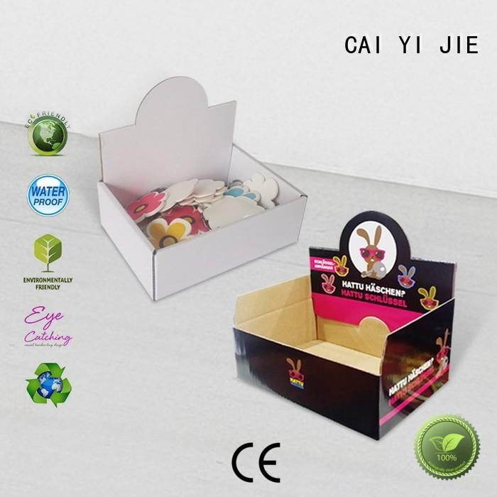 CAI YI JIE commodity cardboard countertop displays product for supermarkets