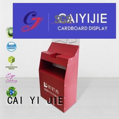 pop Custom sale stair cardboard stand CAI YI JIE displays