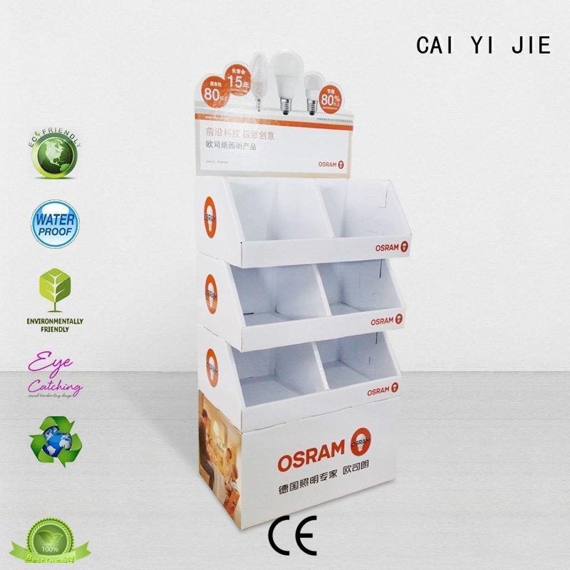 Custom retail cardboard stand products CAI YI JIE