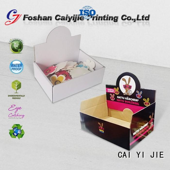 CAI YI JIE commodity cardboard display boxes stands boxes for supermarkets