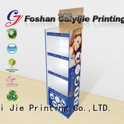 CAI YI JIE cardboard counter display stands color for paper shelf