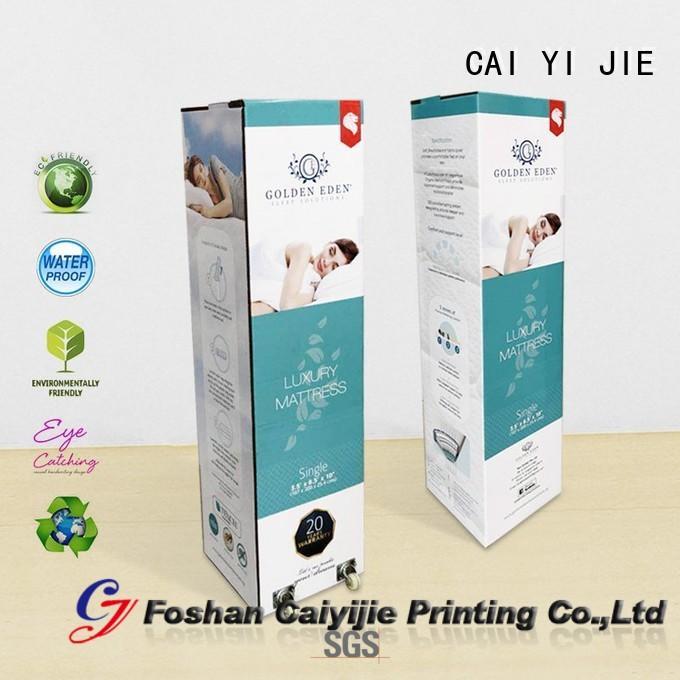 CAI YI JIE counter display box color printing for yogurt display