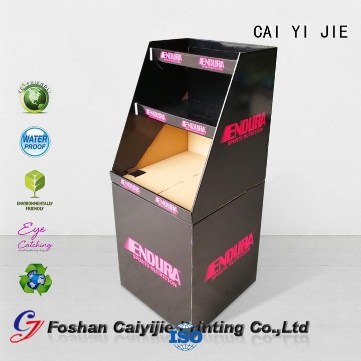 CAI YI JIE cheap price cheap dump bins printing corrugated display for merchandising