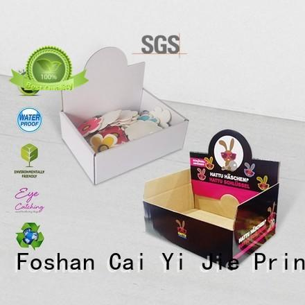 CAI YI JIE grocery cardboard display boxes wholesale stands boxes for products