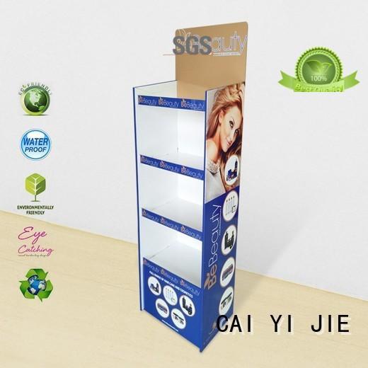 promotional cardboard pop up displays green for led light