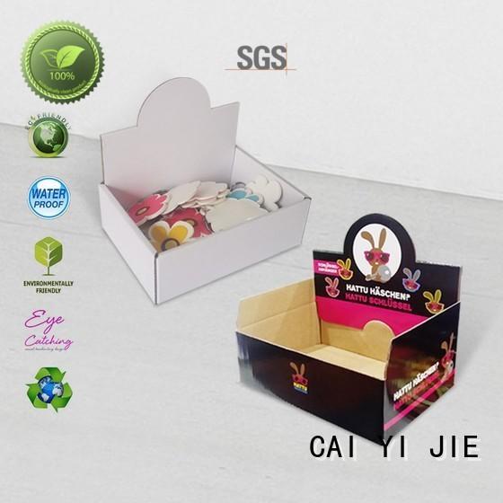 Hot cardboard display boxes displays CAI YI JIE Brand