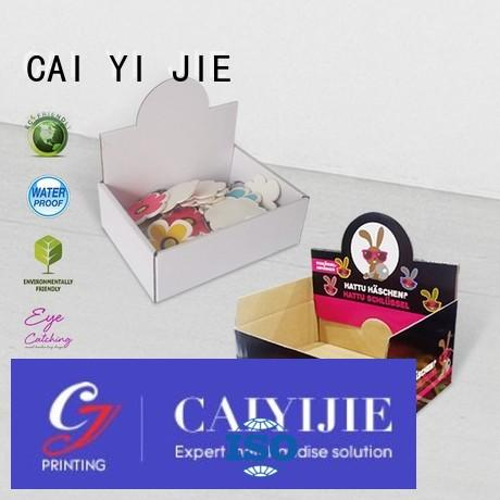 custom cardboard counter displays boxes printed cardboard display boxes CAI YI JIE Brand
