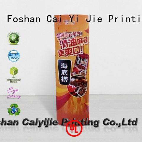 CAI YI JIE free sample lama standee durable for advertizing