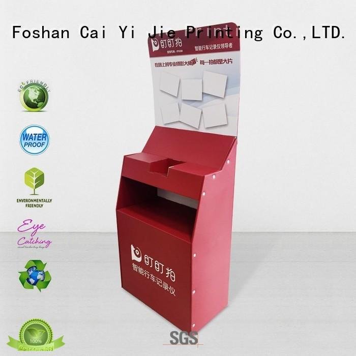 cardboard display units chip forbottle CAI YI JIE