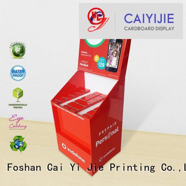 cardboard display marketing CAI YI JIE hook display stand