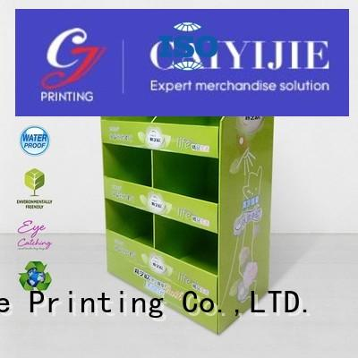 CAI YI JIE Brand promoting pallet display mobile factory