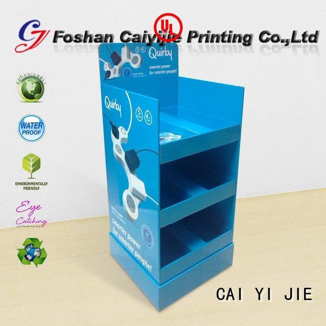 tube stair step cardboard greeting card display stand CAI YI JIE