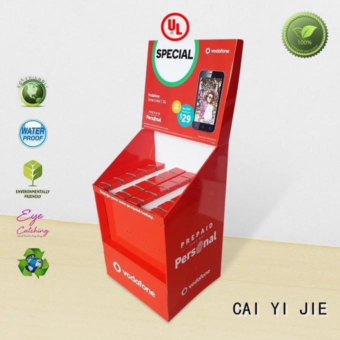 CAI YI JIE full color hook display stand cardboard display for perfume