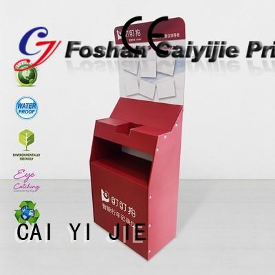 modeling cardboard retail display stands dumpbin for paper shelf CAI YI JIE